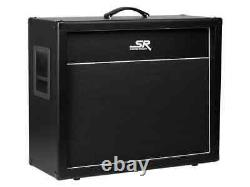 Monoprice SB 2x12 Guitar Amp Extension Cabinet with 2x Celestion V30 Speakers 120W