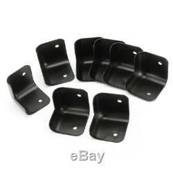 NEW 8pcs Black Hard Steel Guitar Amp Amplifier Speaker Cabinet Corners Protect