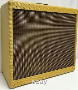 Narrow Panel Tweed Pro 1x15 Combo Guitar 5E5 Amplifier Speaker Cabinet