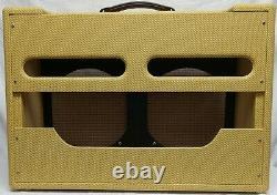 Narrow Panel Tweed Twin High Power Guitar 5f8 Amplifier Combo Speaker Cabinet