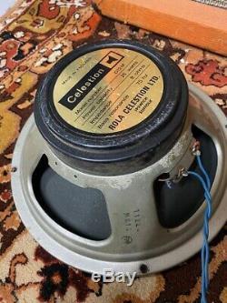 Pair 2x Vintage 1977 Celestion G12M T1220 12 8ohm 25w Guitar Blackback Speaker