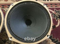 Pair of Vintage CTS 10 Speakers Guitar Amplifier Ribbed Cone
