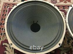 Pair of Vintage CTS 12 Speakers 8 Ohms Guitar Amplifier Ribbed Cone