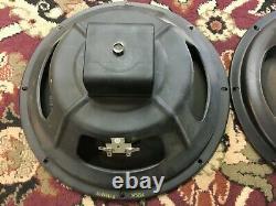 Pair of Vintage Heppner 12 Speakers 16 Ohms Guitar Amplifier Smooth Cone