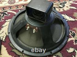 Pair of Vintage Rola 12 Speakers 8 Ohms Guitar Amplifier Ribbed Cone