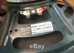 Pair of Weber 10 Inch Guitar Speaker Model SIG10F Signature 8 Ohms