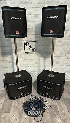 Peavey HiSys XT Series 112XT 6XT PA Speaker System / Black Widow Speakers
