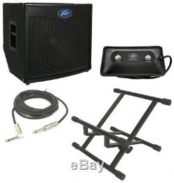 Peavey Tnt115 Bass Guitar Combo 600W Amp 15 Speaker With Footswitch Cable & Stand