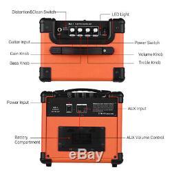Portable BT Electric Guitar Amplifier Speaker Speakers Amp 10W Two Channels V2Q5