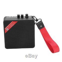 Portable Mini Electric Guitar Amplifier Speaker Speakers Amp 5W 9V Black