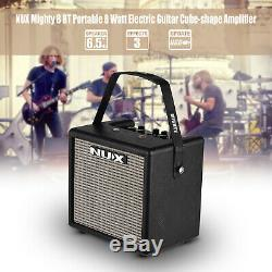 Portable Mini Electric Guitar Amplifier Speaker Speakers Amp 8W 3 Effects Y5R0