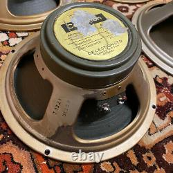 Quad 4x Vintage 1970 Celestion G12M T1221 12 25w Guitar Greenback Speaker Driver