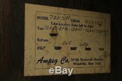 RARE 1960 Ampeg 720-SN tube amplifier 2X12 Jensen speakers
