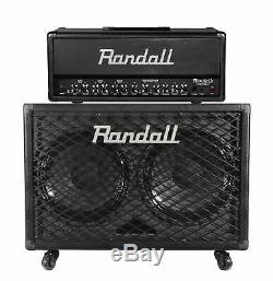 Randall 100-Watt Guitar Amplifier Head + Speaker Cabinet with Casters