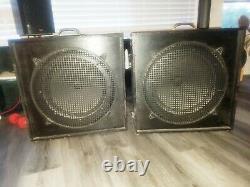 SUNN 15 inch speakers. Pre Marshall