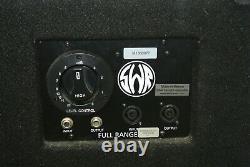 SWR Triad 3-Way Bass Speaker System Cabinet 4-ohm 400W 1/4 in/out Speakon jacks