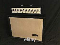 Silvertone 1646 Head and Cabinet with Jensen C12Q speakers guitar amplifier