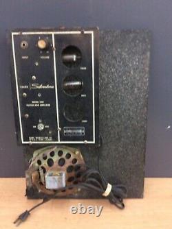 Silvertone Amp Case Guitar Amplifier With Speaker Model 1448 PARTS OR REPAIR