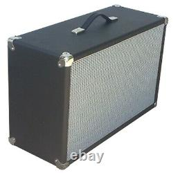 SubZ 2x10 Extension Guitar Speaker Cabinet Pine Black with Silver Closed