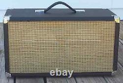 SubZ 2x8 Extension Guitar Speaker Cabinet Black with Wheat Open