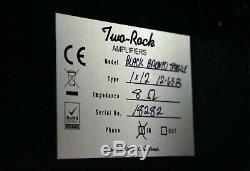 Two-Rock 1x12 Speaker Cabinet, Black Bronco Sparkle Grill Cloth, EX! 112 #18282