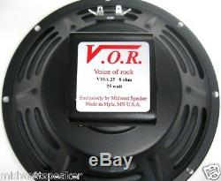 VOR 10 Alnico Magnet 25 watt Guitar Speaker Jensen P10R Upgrade 8 ohm