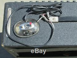 VTG Fender Super Twin Reverb Tube Amplifier Speaker Cab Combo + Foot Switch