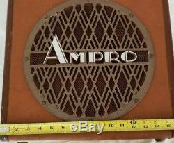 Vintage 12 Ampro model 16641 guitar 16&35mm projector Speaker withCabinet 1930's