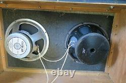 Vintage 1960's Fender BandMaster 2x12 Piggyback Amp Speaker Cabinet Cab Unit