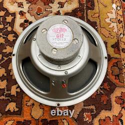Vintage 1960s Celestion Vox Marshall G12 Silver Alnico T650 Speaker Driver