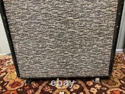 Vintage 1960s Selmer David Crocodile Skin 1×15 Guitar Bass Speaker Cabinet Fane