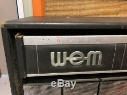 Vintage 1960s WEM Watkins Starfinder 2x12 Guitar Amplifier Cabinet Fane Speakers