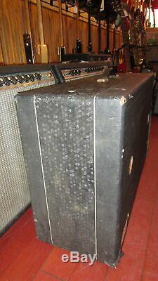 Vintage 1964 Supro 2 x 12 Speaker Amplifier Cabinet Grey Tolex