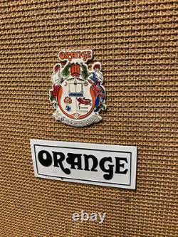 Vintage 1970s 1975 Orange 4x12 Amplifier Cabinet Cab Celestion T1217 G12 Speaker