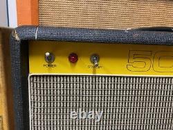 Vintage 1970s Carlsbro 50 Top 50w Combo Amplifier Amp w 12 Power Tone 60 Speaker