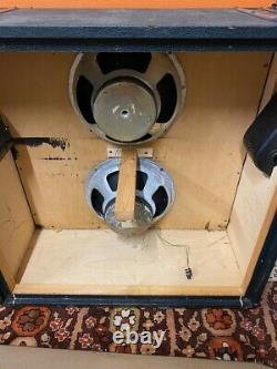 Vintage 1970s Marshall 2x12 Vertical McKenzie Speakers Model 2196 Cabinet