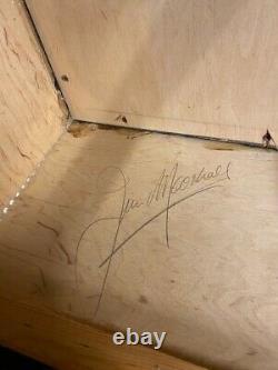 Vintage 1970s Marshall 2x12 Vertical McKenzie Speakers Model 2196 Cabinet SIGNED