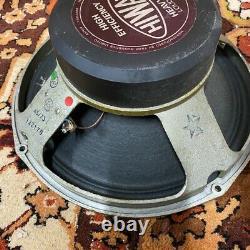 Vintage 1973 1970s Hiwatt Fane 122170 Purple Label Speaker Driver Original Cone