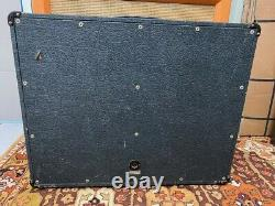 Vintage 1976 1970s Marshall 2045 2x12 Guitar Cabinet with Eminence 12 Speakers