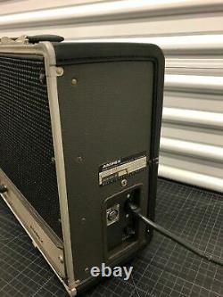 Vintage Ampex AA-620 hi fi powered speakers power amp suitcase guitar amp
