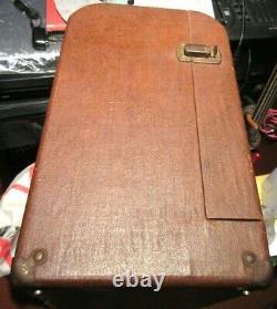 Vintage Ampro 16641 12 in. Guitar Amp Speaker withCabinet 1956
