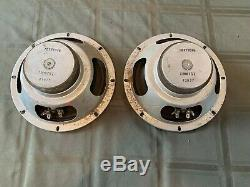 Vintage JENSEN 8 ohms Guitar 8'' matched speakers pair from fender amplifier