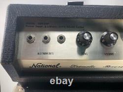 Vintage National GA920P Tremolo Reverb Amplifier Head Solid State Speaker Works