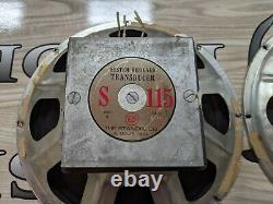 Vintage PAIR 15 Standel Trusonic El Monte 8 ohm Guitar Amplifier Speakers S115