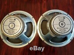 Vintage Pair of 80s Celestion G12-65 Speakers