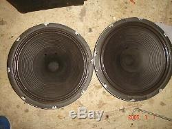 Vintage guitar amp amplifier speakers pair set