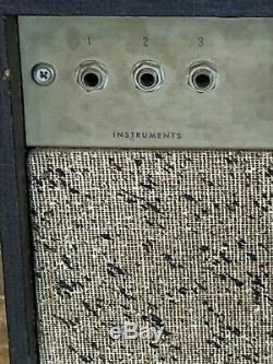 Vtg Custom Kraft 600A Tube Amp For Guitar Jensen Chicago Speaker Valco