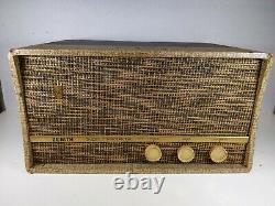 Vtg Tube Amp with Speaker ZENITH Guitar Amp Tone Volume Pre-amplifier Power WORKS