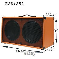 1 2x12 Guitare Spkr Cabinet Feu Rouge Ardent Tolex Withcelestion Rocket 50 Haut-parleurs