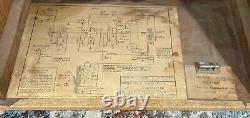 1950 Amplificateur Oahu Tonemaster Modèle 230k-e! Nettoyez! Jensen P12r Président Snc Iron